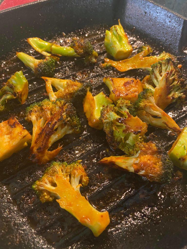 Gochujang og brokkoli.