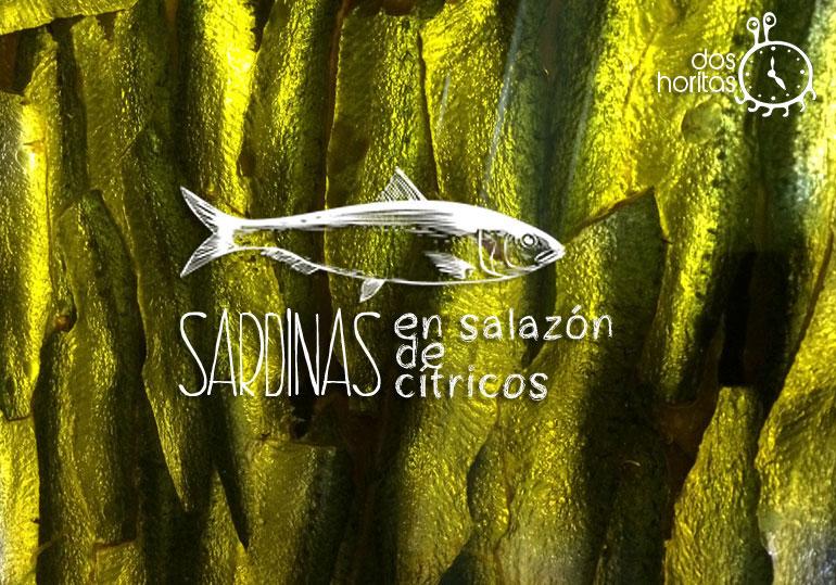 Sardinas en salazón de cítricos