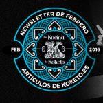 Newsletter Febrero 2016. Koketo