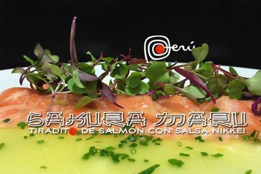 Sakura Maru tiradito de salmon Nikkei
