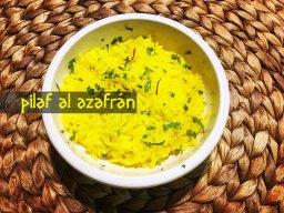 El arroz Pilaf al azafrán es una suculenta forma de elaboración típica griega del arroz largo.