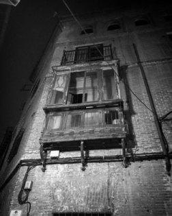 Balcón en ruinas