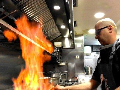 El wok. Chef koketo.