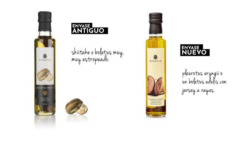 Chinata. Condimento de aceite de oliva virgen extra con boletus edulis.