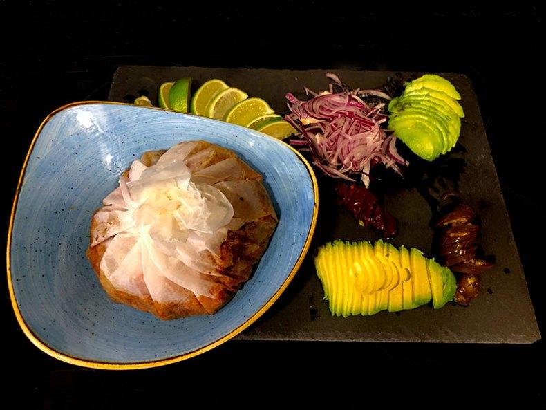 Mixiote de cordero. Chef Koketo