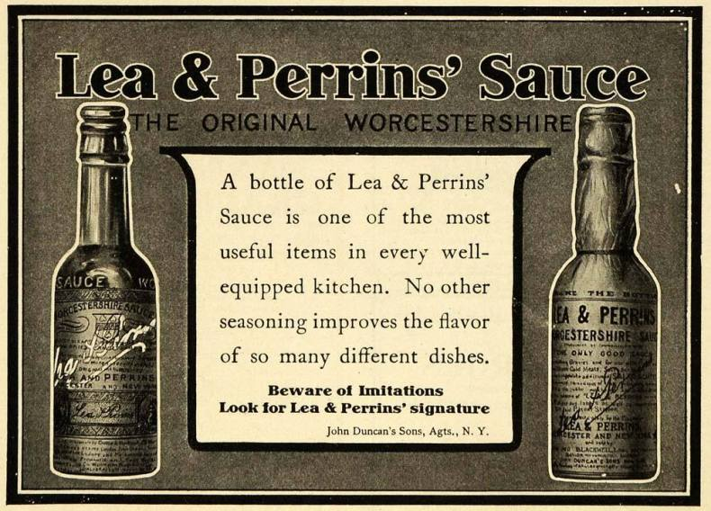 Publicidad Lea & Perrins. 1907