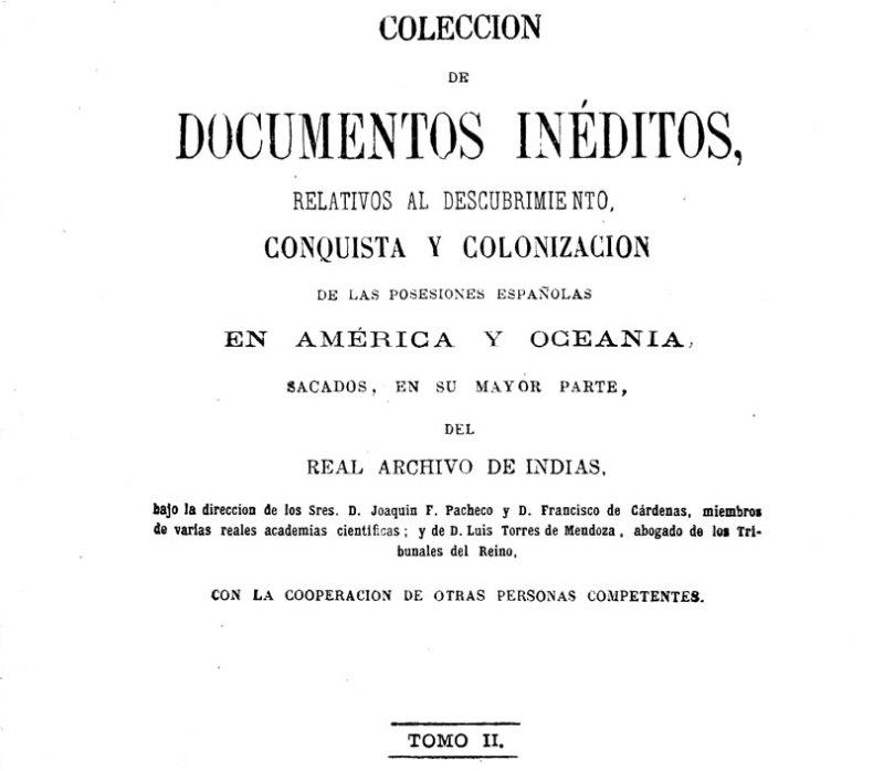 Colección de documentos inéditos del Archivo de Indias