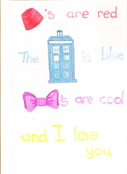 Dr Who Valentine's card