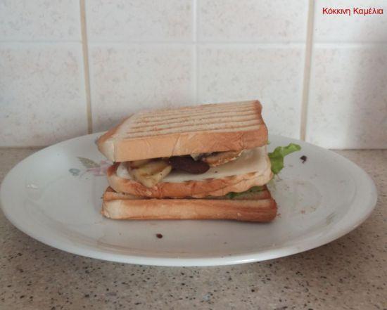 Συνταγή για εύκολο νηστίσιμο σάντουιτς με μανιτάρια