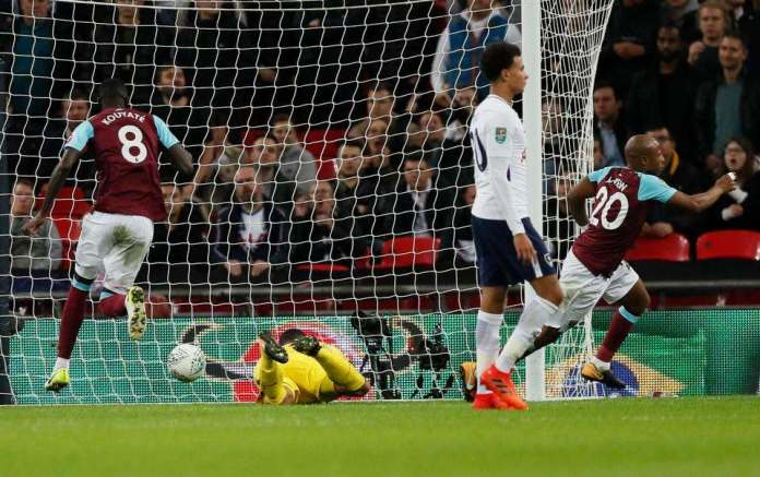 Tottenham 2 West Ham 3: Andre Ayew's Brace Saves Slaven Bilic's Job, As Hammers Stuns Spurs With Comeback Carabao Cup Win 4