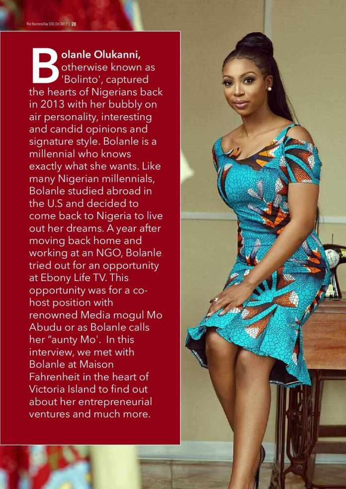 Bolanle Olukanni Covers The 7th Edition Of The Business Day CEO Magazine 2
