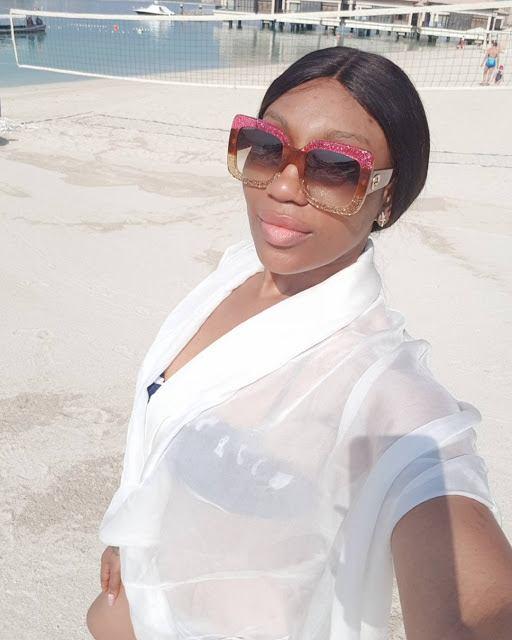 Sun, Sea And Swimwear: Ebube Nwagbo Is Stunning In Pink Floral Bikini On Dubai Holiday 2
