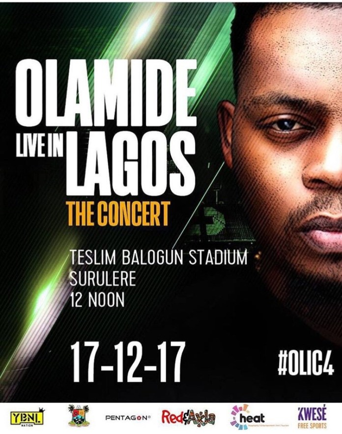 The OLIC4 Season! 'Olamide Live in Lagos: The Concert' Promises To Be Legendary 1
