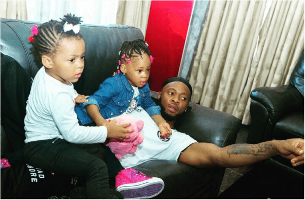 Awwwn Cute! Flavour Shares Adorable Photos Of Self And His Kids 3