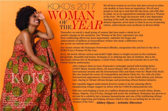 Breaking! 'The Nubian Princess' Nomzamo Mbatha Is KOKO's 2017 'Woman of the Year' 3