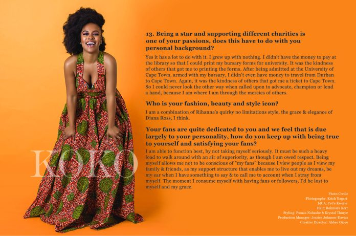 We Are The Groundbreakers! South African Actress Nomzamo Mbatha Talks Rihanna, Being UNHCR Ambassador And A Bright Future For Africans...As She Covers The KOKO Magazine 10