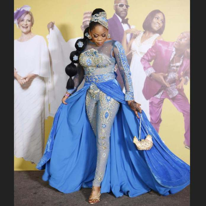 Toyin Lawani Is As Beautiful As A Mermaid As She Step Out For The Premiere Of Wedding Party 2 1