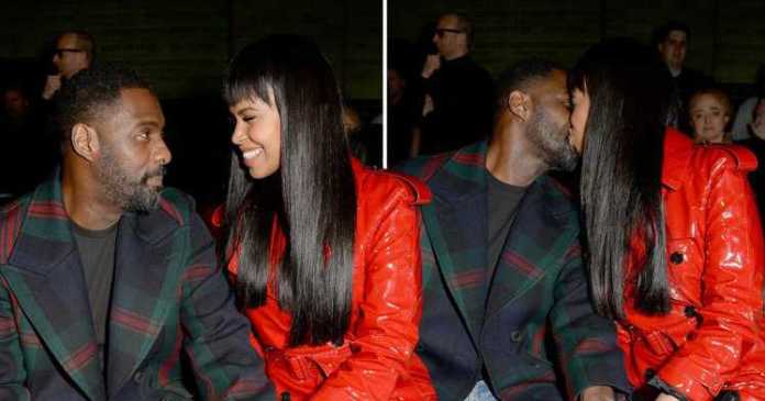 Sealed With A Kiss...Newly Engaged Idris Elba And Sabrina Dhowre Are All Loved Up At London Fashion Week 1