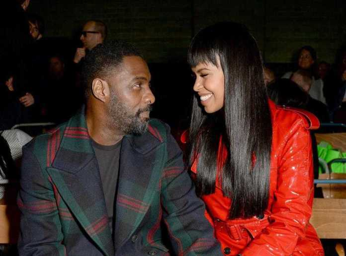Sealed With A Kiss...Newly Engaged Idris Elba And Sabrina Dhowre Are All Loved Up At London Fashion Week 2
