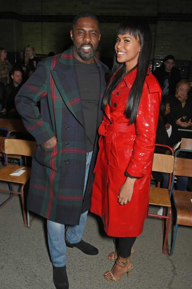Sealed With A Kiss...Newly Engaged Idris Elba And Sabrina Dhowre Are All Loved Up At London Fashion Week 3