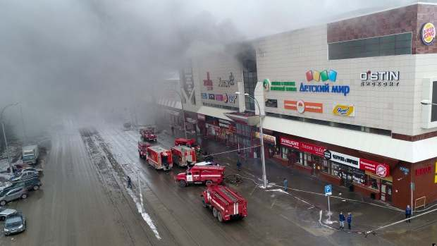 Sad! Fire Outbreak In A Russian Shopping Mall Leaves At Least 64 People Dead 2