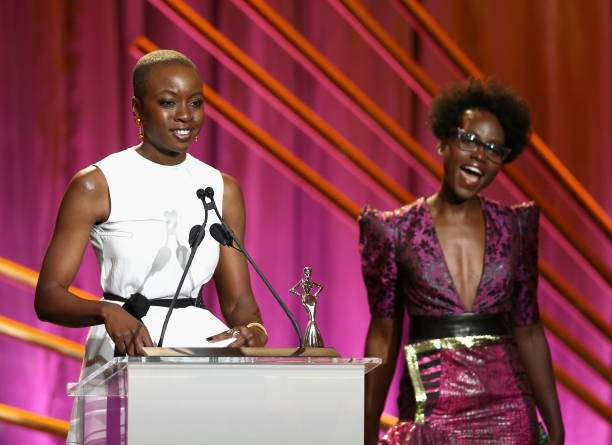 #BlackPanther! Lupita Nyong'o Dazzles In Daring Pink Dress At The 2018 Essence Black Women In Hollywood Oscars Luncheon 4
