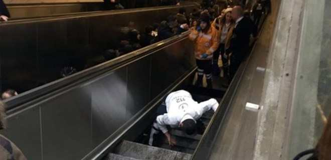 Must Watch: Man Swallowed By Escalator At Train Station 3