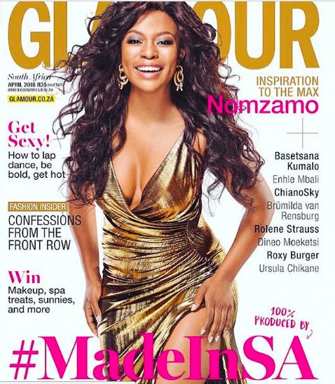#MadeInSA! Nubian Princess Nomzamo Mbatha Is Stunning On The Cover Of Glamour Magazine 1