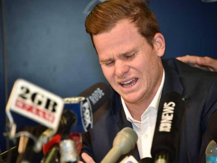 Former Australia Captain Steve SmithBreaks Down In Tears As He Apologies Over Ball-tampering Scandal 1