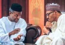 Audio VP: Tweeps Shade Osinbajo Over Buhari Signing Bills Abroad