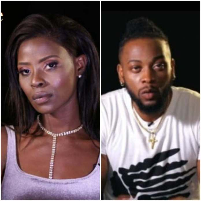 #BBNaija: Khloe And Teddy A In A Heated Argument Over A Piece Of Meat 1