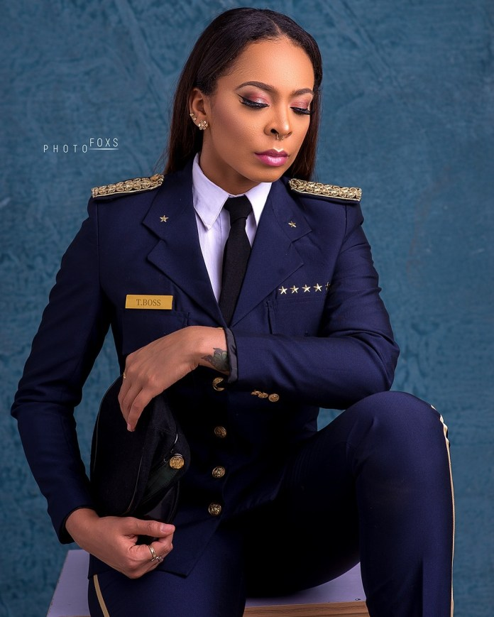 T-Boss Shows Her Love For Uniform In New Pilot Themed Photoshoot 1