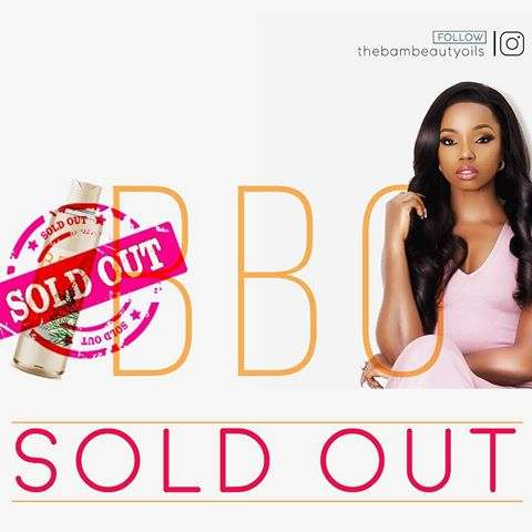Wow! Bambam Realises Whopping N25Million From Her Beauty Oil Launch 2