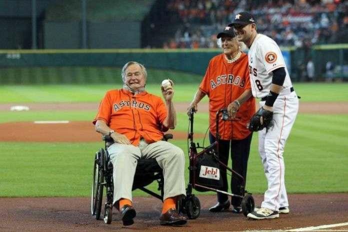 George HW Bush Hospitalised