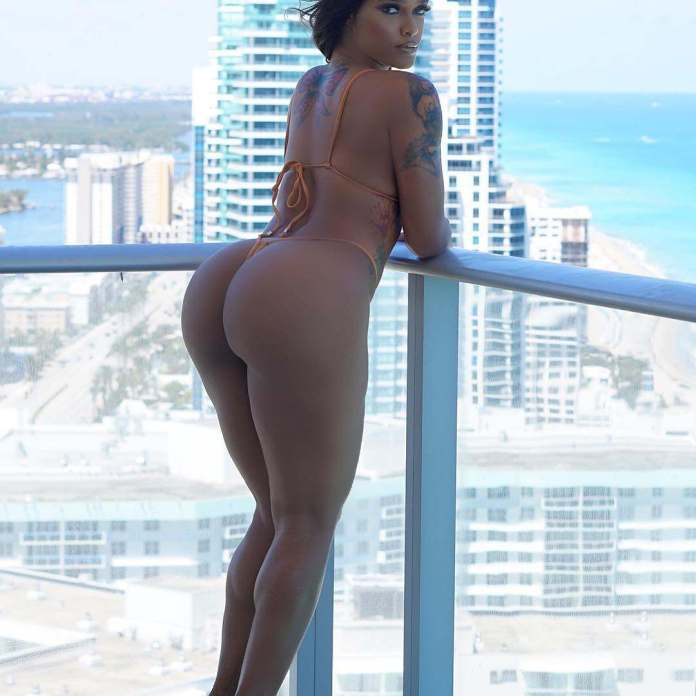 Sun Sea & Swimwear: Joseline Hernandez Flaunts Her Bare Butt In New Bikini Photo 1