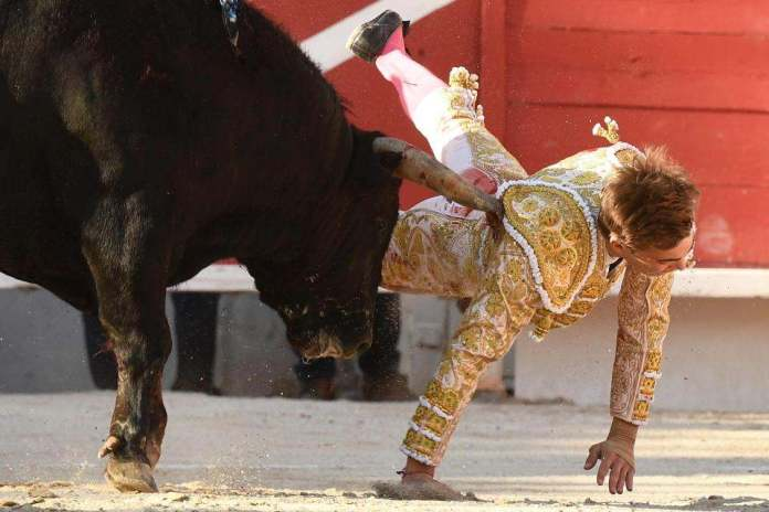 Shocking Moment Bullfighter Andy Younes Is Gorged By A Raging Bull 2