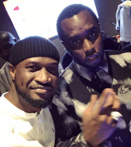 Giant Strides! Peter Okoye Hangs Out With Diddy And Cassie 1
