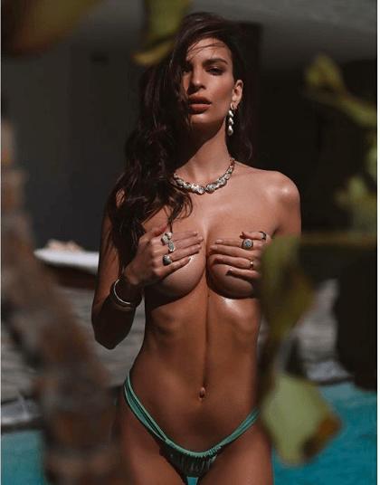 Sun, Sea And Swimwear : Emily Ratajkowski Poses Topless As She Launches Her Swimwear Line 1