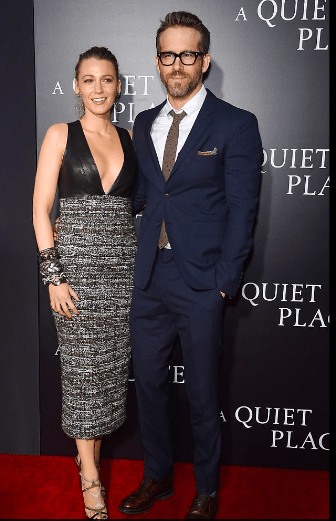 Style Stalking: Blak Lively Dazzles In Plunging Outfit For Movie Premiere With Husband Ryan Reynolds 4