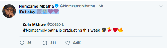 Big Congratulations! KOKO's 2017 'Woman of the Year' The Nubian Princess, Nomzamo Mbata Graduates With Honours From University of Cape Town Today!!! 3