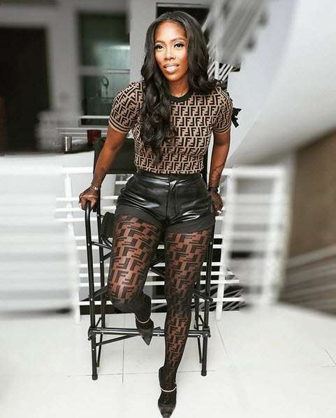 Style Stalking: Tiwa Savage Is Smoking Hot In Fendi Leather Shorts 3