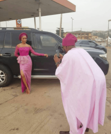 See How Banky W And Adesua Etomi Showed Up For Gabriel Afolayan's Wedding 4