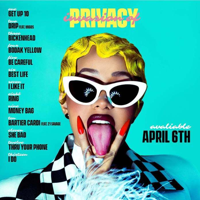"""Finally! Cardi B Releases Her Debut Album Titled """"Invasion Of Privacy"""" 1"""