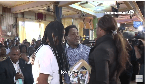 T.B Joshua Delivers Two Lesbians In His Church (video) 2