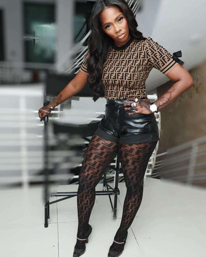 Style Stalking: Tiwa Savage Is Smoking Hot In Fendi Leather Shorts 1
