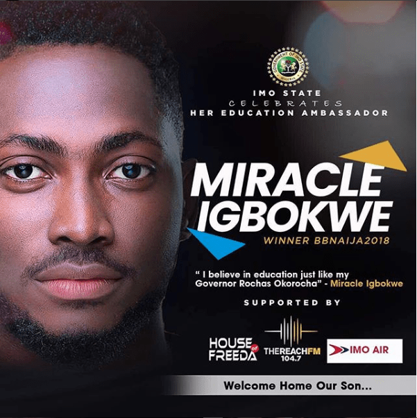 See Photos Of Convoy That Picked Miracle At The Imo State Airport 3