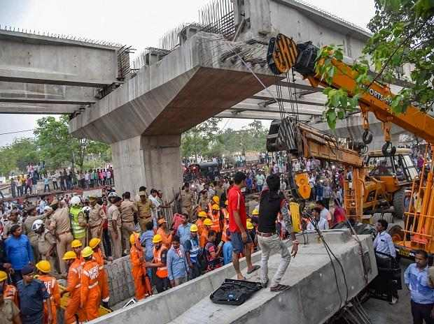 19 Dead, Others Trapped Flyover Collapses In Varanasi, India 1