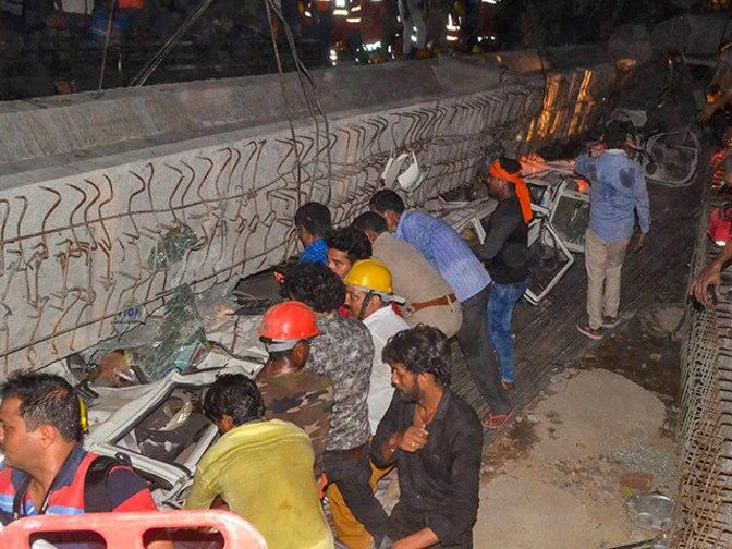 19 Dead, Others Trapped Flyover Collapses In Varanasi, India 2