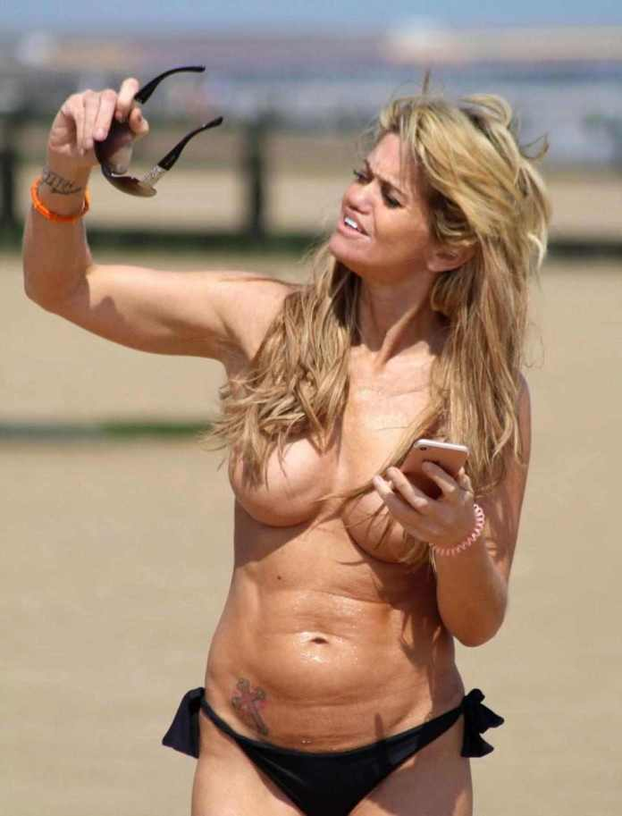 Not Again! Danniella Westbrook Goes Topless As She Soaks Up The Sun On Essex Beach 3