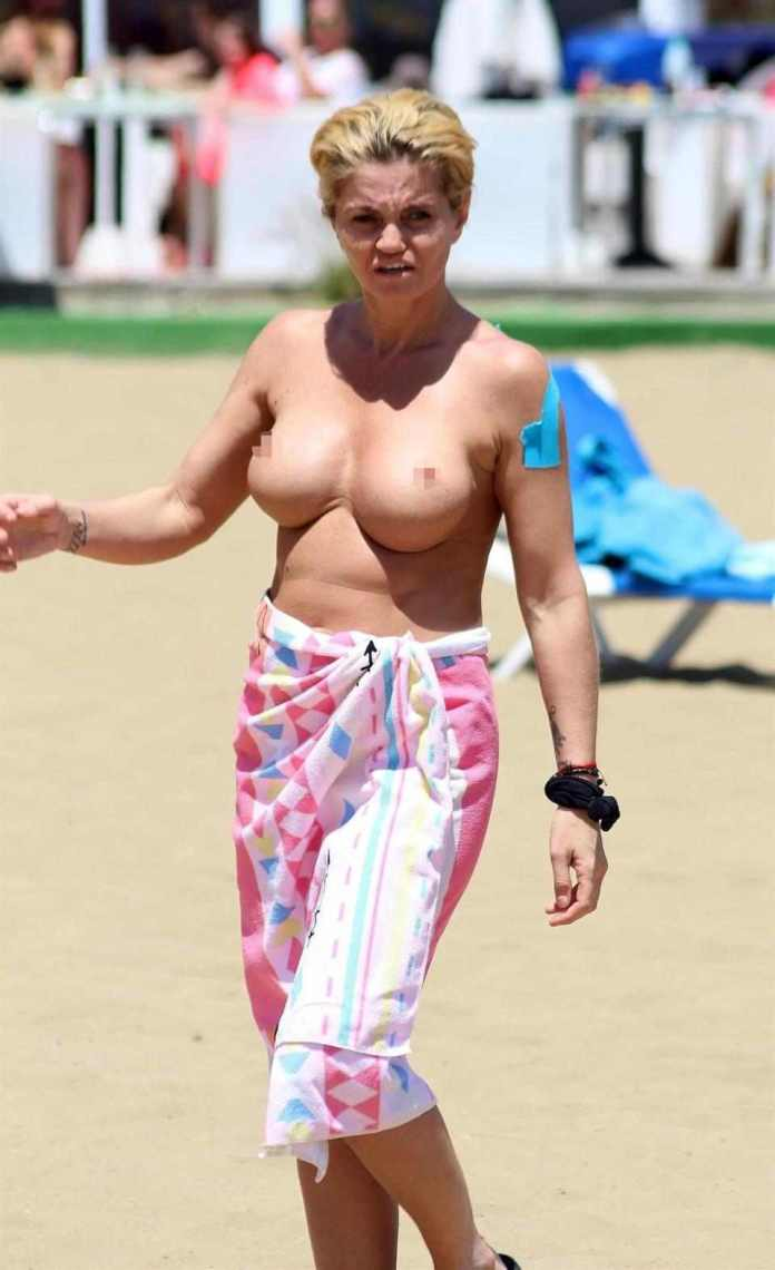 Oh No, Not Again! Danniella Westbrook Goes Topless On Holiday In Spain 1